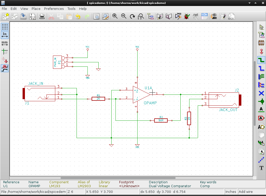 kicad amp for demo
